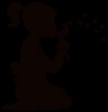 Mädchen mit Pusteblume